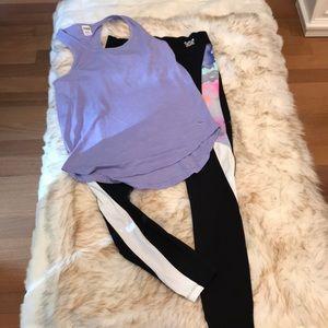 NWOT Small Victoria Secret Pink Leggings & XS Tank